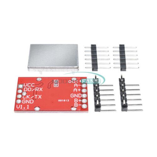 Métal Reculé HX711 Dual-channel 24-bit A//D Conversion Weighing Sensor Module