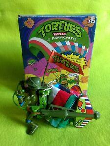 1988 Bandai Playmates Tortue Tortue Ninja avec Parachute En Boîte