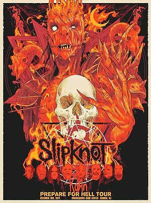 "SLIPKNOT KUNSTDRUCK ""CAMDEN PREPARE FOR HELL TOUR"" VON VANCE KELLY - POSTER"