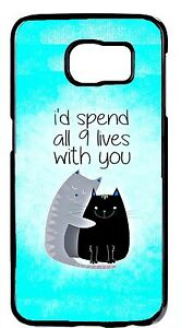 New-For-Samsung-Galaxy-Note-5-4-3-2-Cute-Cats-Love-Romantic-Quote-Case-Cover