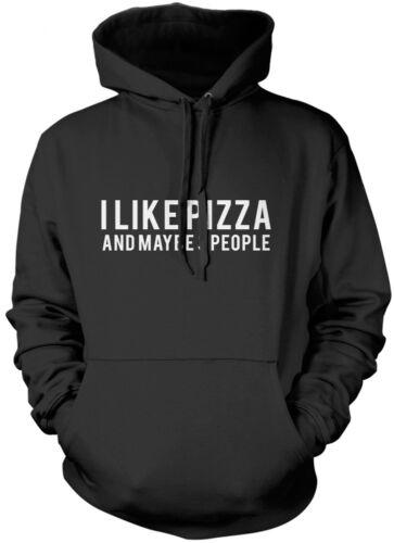 J/'aime Pizza et peut-être 3 personnes-Go Away Antisocial Teen Unisexe Sweat à capuche