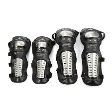 Motorcycle Motorcross Racing Rider Elbow & Knee Pads Armor Protective Guard New