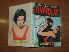 DIABOLIK SECONDA SERIE ORIGINALE N°21 OTTOBRE 1965 TRADIMENTO SODIP