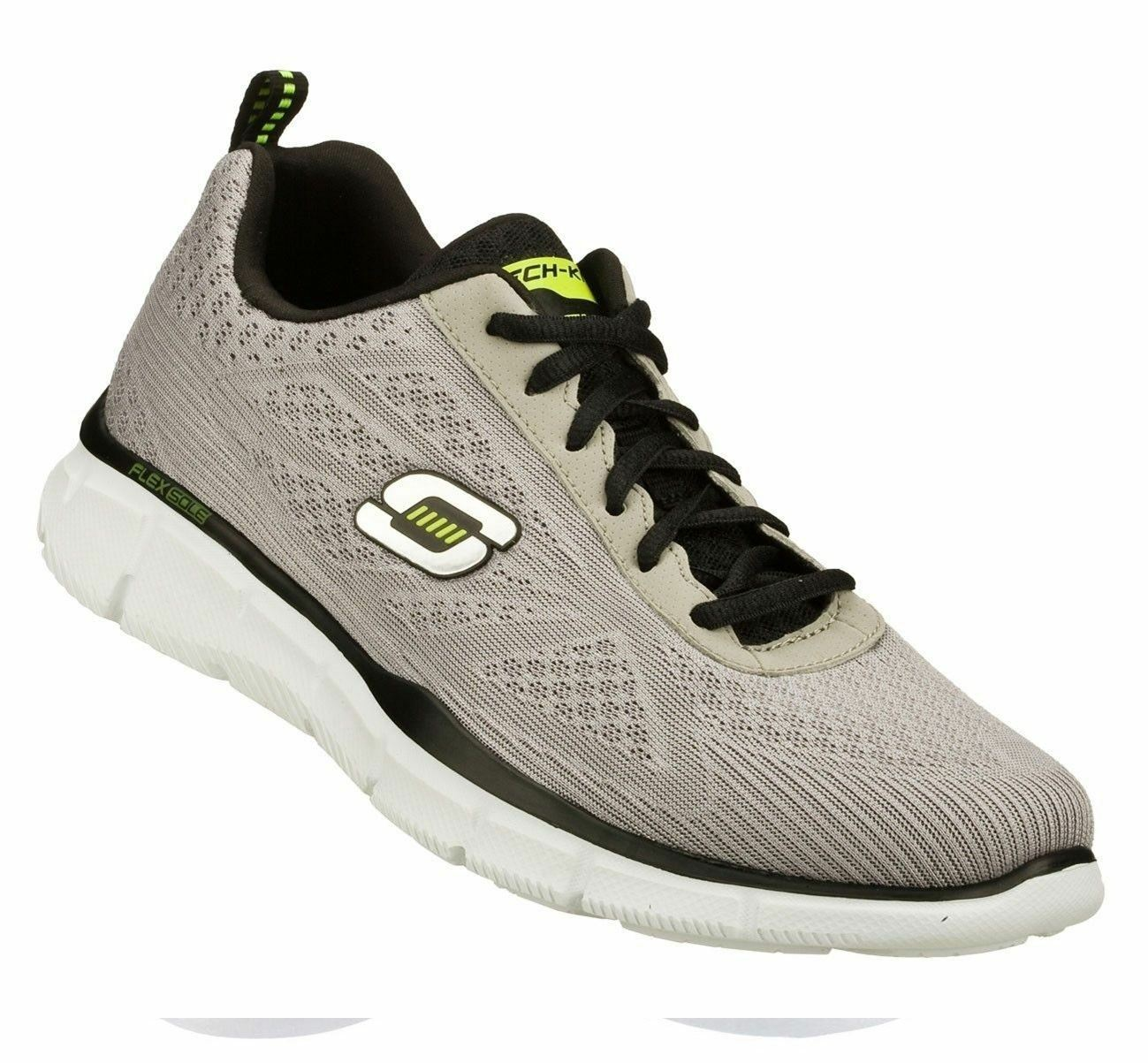 Skechers Homme equilizer Quick Reaction gris clair basket Course taille uk6-uk13