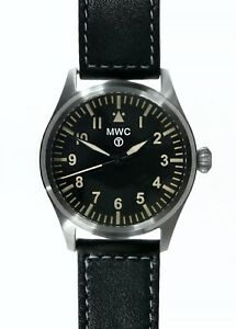 MWC-40mm-Classic-Military-Pilots-Watch-Hybrid-Movement-amp-100m-Water-Resistance