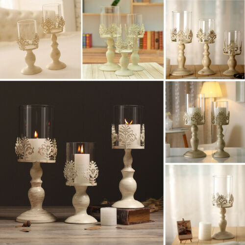 European Style Pillar Candle Lantern Glass Dome Holders Home Wedding Party Gifts