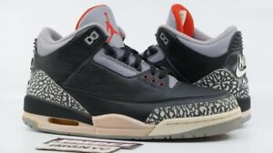 separation shoes 35ad5 bc30f Details about AIR JORDAN III 3 RETRO 2001 NEW SIZE 10 BLACK CEMENT GREY  136064 001