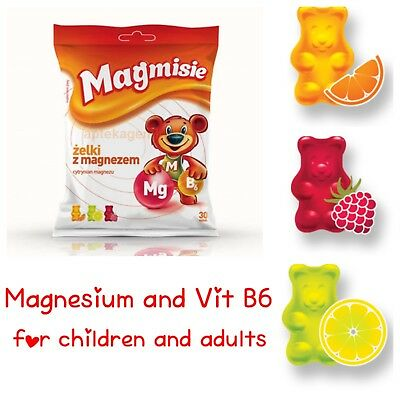 ✅Magmisie jelly Gummy bear with magnesium and Vitamin B6 30 pcs for children 3+