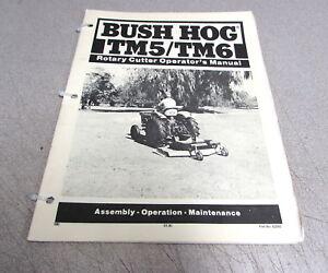 Bush Hog Tm5 Tm6 Rotary Cutter Owner S Assembly Operation
