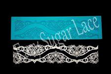 Silicone IRISH CROCHET CAKE LACE Mat / Mold Edible Sugar (1 Row) FREE Shipping