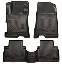 2008-2012 Honda Accord 4-Door Black Husky WeatherBeater 1st & 2nd Row Floor Mats