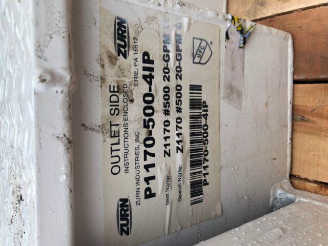 Zurn P1170-500-4ip Grease Interceptor Z1170 #500 20gpm