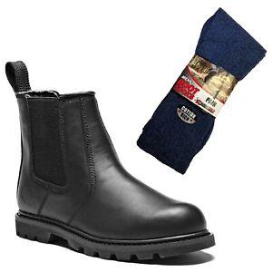 y Dealer Negro par de Safety Fife 1 para calcetines Ii botas Boots Work Dickies wIYTS04Y