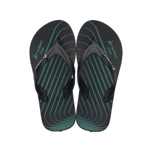 Boys Rider Strike Graphics Black Soft Toe Post Sandals Flip Flops Size UK 11-3