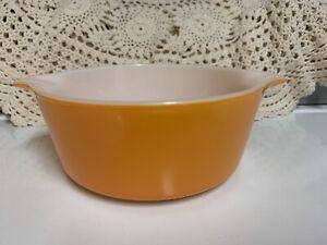 Orange/White Pyrex CASSEROLE BOWL/DISH 1/2 Qt USA
