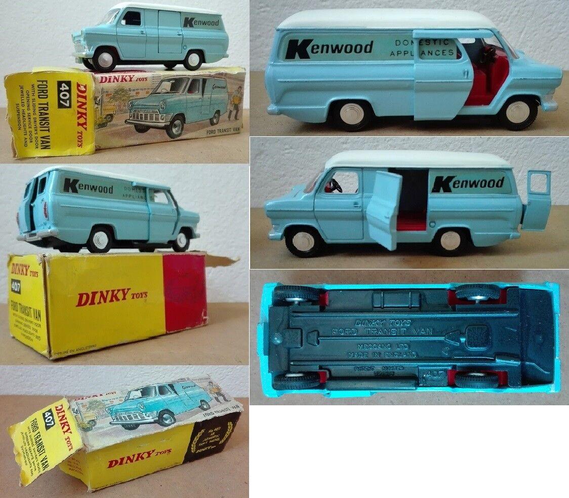 Dinky Toys 407 Ford Transit Van Kenwood die cast 1 43