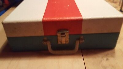 Vintage 1970s Imperial \u201cParty-Time\u201d Solid State Portable Record Player Suitcase 2-Speed Turntable ~ Free Shipping! Model 100 Funky Orange