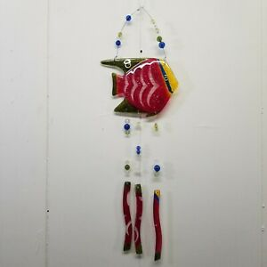 Sun-Catcher-Wind-Chime-Stained-Glass-Fish-Beaded-Porch-Decor-Door-Wall-Hanging