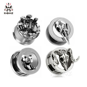 Stainless-steel-Ear-Gauges-and-Ear-Tunnels-Body-Piercing-Ear-Plugs-2pcs-Gift