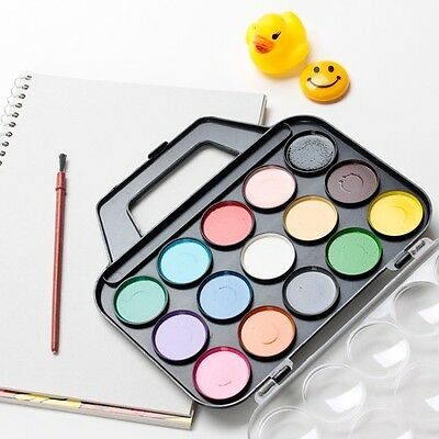 15 Colors Watercolor Art Drawing Paints Brush Palette Set for Beginner Kid Child