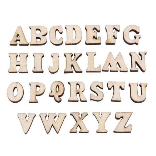 100pcs Wooden Letters Alphabet Wooden Crafts DIY Decor New