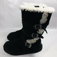 item 6 Women's UGG Australia Tall Black Leather 3 Buckle Strap Zip Boots-Sheepskin-5 -Women's UGG Australia Tall Black Leather 3 Buckle Strap Zip ...