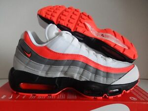 81e2b2738f NIKE AIR MAX 95 ESSENTIAL WHITE-BRIGHT CRIMSON-BLACK SZ 10.5 [749766 ...
