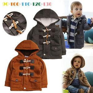 f653a557292a Toddler Baby Kids Girl Boy Winter Warm Horn Coat Jacket Hooded ...