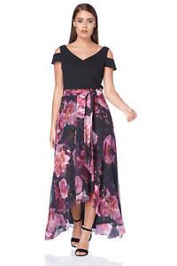 a3b490efb2ce Roman Originals Women's Pink Floral Print Maxi Dress Sizes 10 - 20 ...
