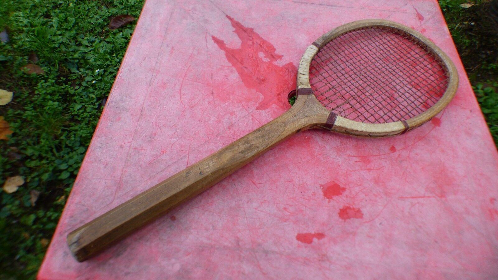 Racchetta da tennis anni 20-30 in legno vintage di legno racchetta