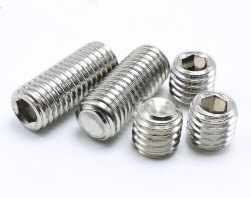 GRUB SCREWS M5 CUP POINT A2 STAINLESS SOCKET
