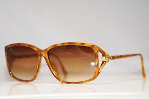 DIOR-1990-Vintage-Womens-Designer-Sunglasses-Brown-Rectangle-2756-12-15109