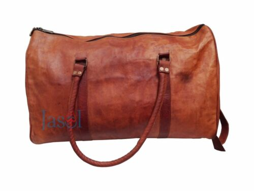 Bag Leather Travel Duffle Weekend Men Luggage Vintage Gym Overnight S Genuine