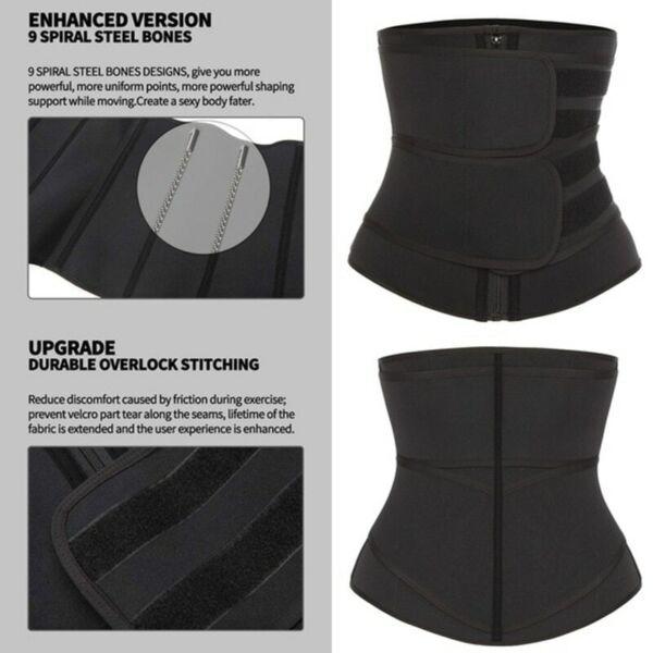 Damen Taillentrainer Sportgürtel Mieder Abnehmen Shaper Korsett Corsage Neopren