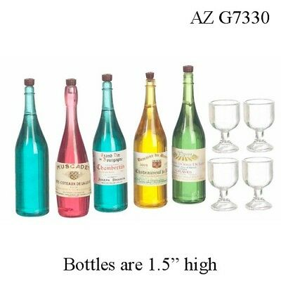 1:12 SCALE 4 CHAMPAGNE GLASSES Dollhouse Miniature Adult Collectible