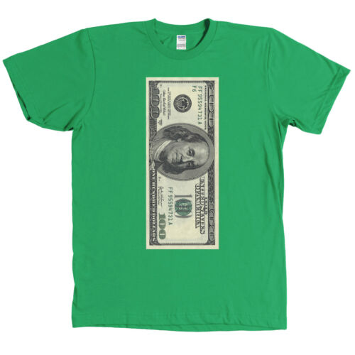 One Hundred Dollar Bill USD T Shirt 100 Benjamin Franklin Money MANY COLORS
