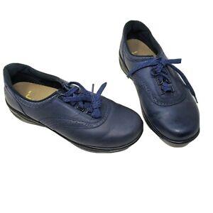 SAS-Walk-Easy-Nero-Size-10-Navy-Nubuck-Leather-Lace-Up-Walking-Shoes-Womens