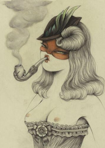Miss Van Home Decor Canvas Print A4 Size 210 x 297mm