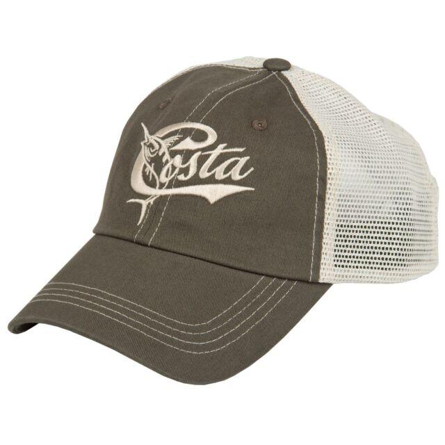 new zealand brand new costa del mar mesh retro adjustable cap hat moss  stone 0feb6 a6cdc 756af4e727cf