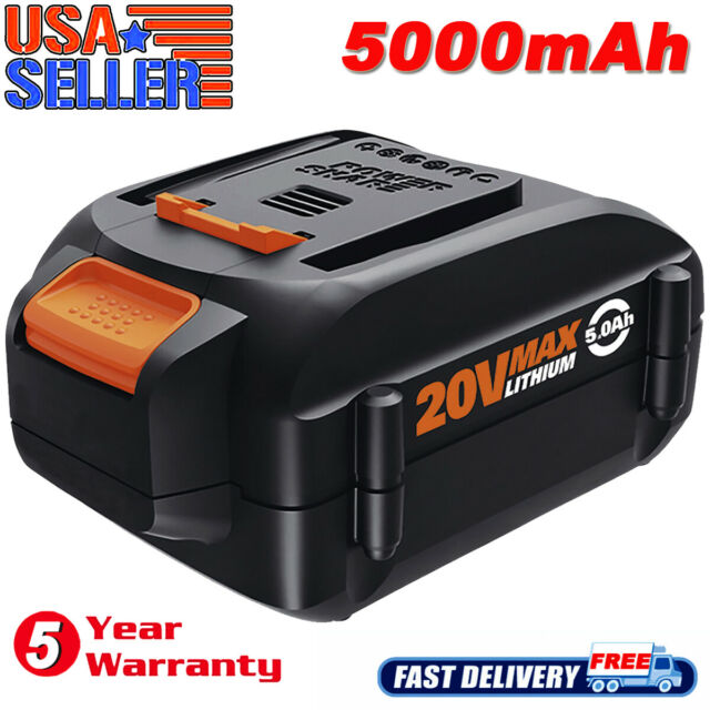 5.0Ah WA3525 WA3520 For WORX WA3575 WA3578 20V Max Lithium Battery WG160 WG155s