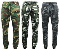 Men's GAME Army Camo Camouflage Fleece Jogging Bottom Joggers Trouser Hunting BN