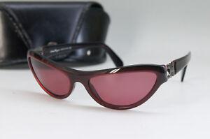 Auth-Salvatore-Ferragamo-Sunglasses-Bordeaux-Gancini-w-case-Free-Ship-IT-675f19