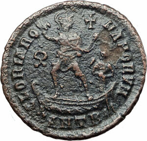 THEODOSIUS-I-the-Great-on-galley-Authentic-Ancient-383AD-Roman-Coin-i80000