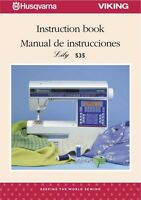 Husqvarna Viking Lily 535 545 555 Service & Parts Or Instruction Manuals On Cd