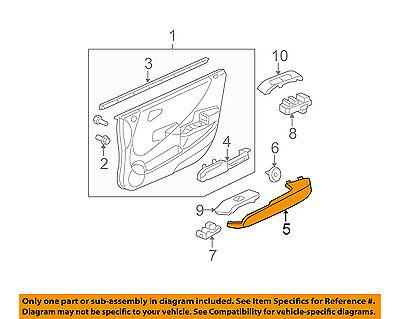 HONDA OEM 07-08 Fit Front Door-Grip Handle Left 83592SLNA01ZA
