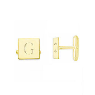 Custom Engraved Wedding Initials 18k Yellow Gold Plated 925 Sterling Silver Cufflinks NICKEL FREE Groom Cufflinks Personalized Cufflinks