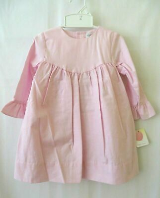 Petit Ami Red Corduroy Dress 4349 Long Sleeve w Ruffle End Size 2T or 3T #10146