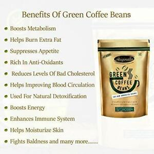 Organic Green Coffee Beans For Weight Loss 350 G Boosts Metabolism