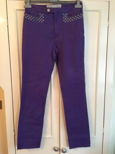 Purple m Stretch 44it Size 12uk Slim Pants Versace aSqEwxBn