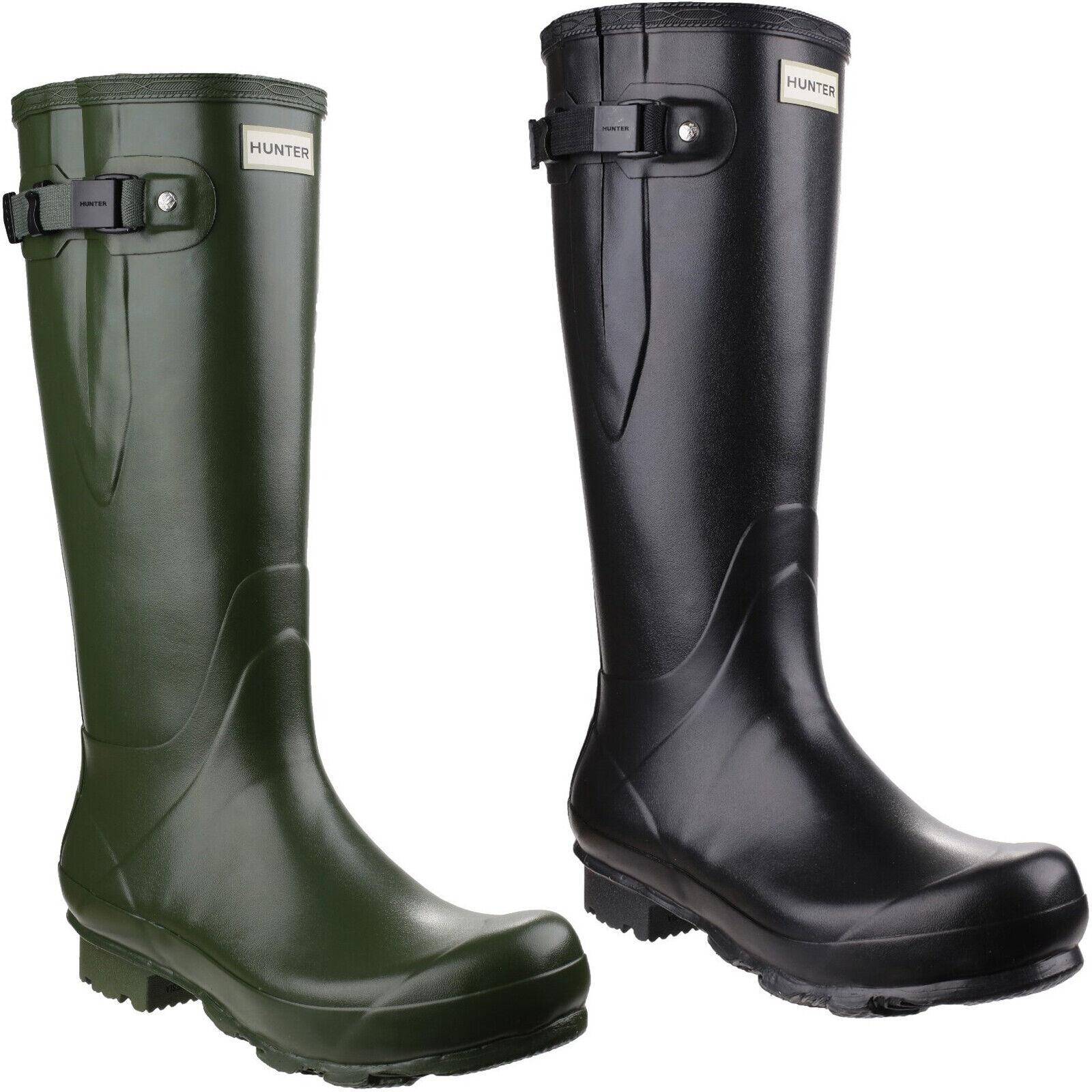 Hunter Norris Adjustable Wellington Stiefel Mens damen Iconic Waterproof Wellies